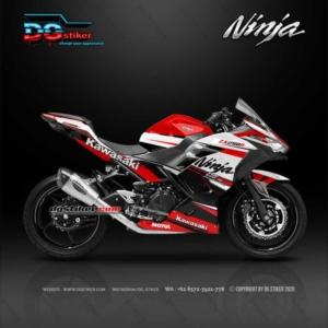 Decal Sticker Ninja 250 R FI Racing Line Red DG Stiker