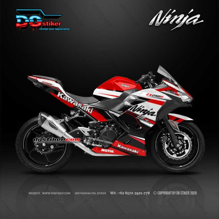 Decal Sticker Ninja 250 R FI Racing Line Red DG Stiker