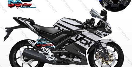 Decal Striping R15 V3 Hitam Elegan DG Stiker