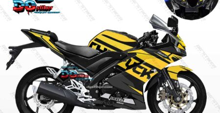 Decal Striping R15 V3 Hitam Kuning Elegan DG Stiker