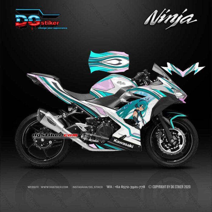 Decal Sticker Ninja 250 R Fi Miku Racing DG Stiker