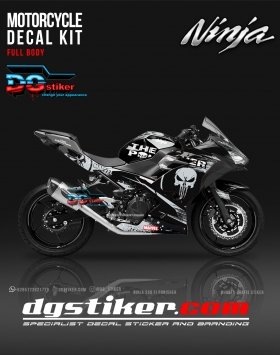 Decal All New Ninja 250 FI Hitam Punisher DG Stiker