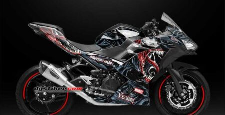 Decal All New Ninja 250 FI Hitam Venom DG Stiker