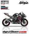 Decal All New Ninja 250 FI Hitam Venom DG Stiker