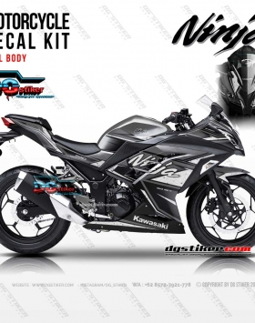 Decal Sticker Ninja 250 FI Grey Shadow DG Stiker