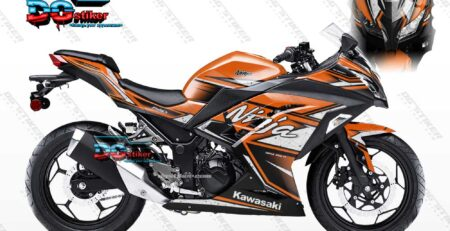 Decal Sticker Ninja 250 FI Orange Shadow DG Stiker
