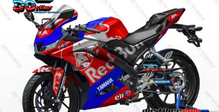 Decal Striping Full Body R15 V3 Merah Redbull Tech3 DG Stiker