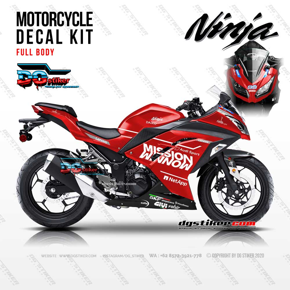 Decal Sticker Ninja 250 FI Mission Winnow DG Stiker