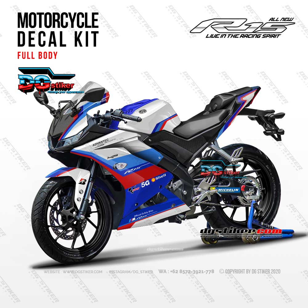 Decal Striping Full Body R15 V3 BMW Safety Bike DG Stiker
