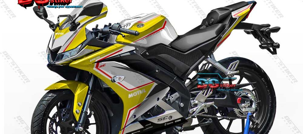 Decal Striping Full Body R15 V3 Kuning MV Agusta Chrome DG Stiker