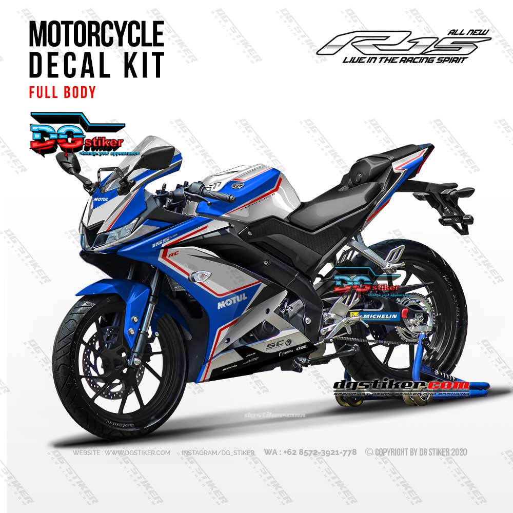 Decal Striping Full Body R15 V3 MV Agusta Chrome DG Stiker