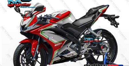 Decal Striping Full Body R15 V3 Merah MV Agusta Chrome DG Stiker