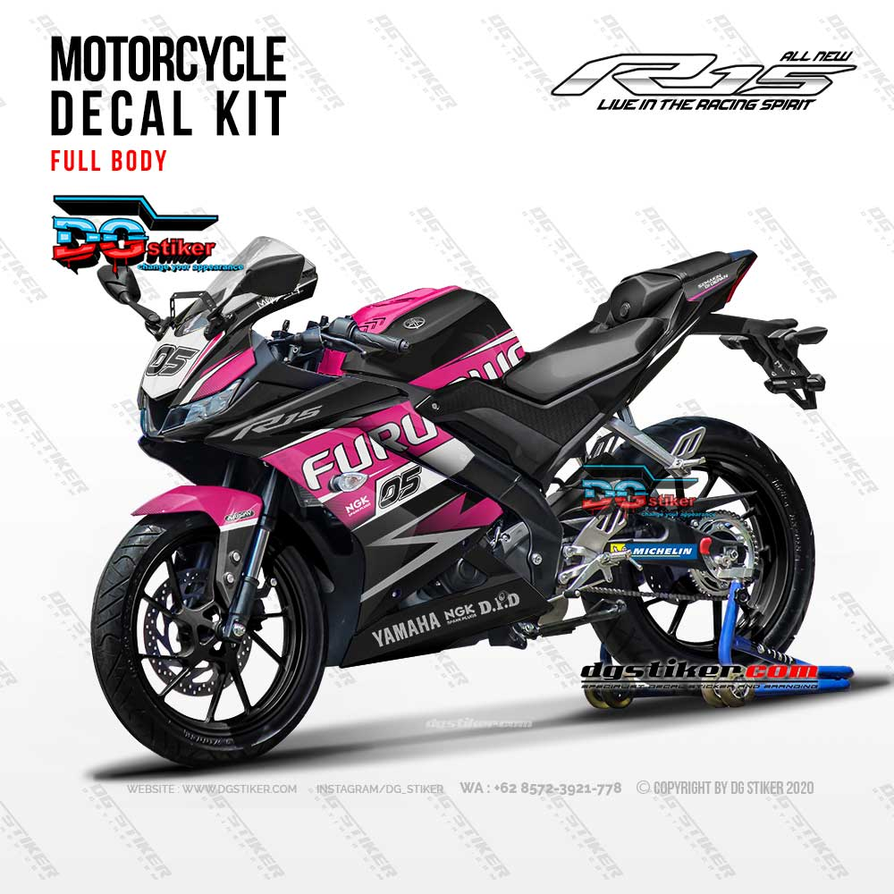 Decal Striping Full Body R15 V3 Pink DG Stiker