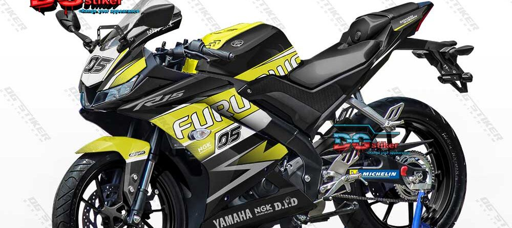 Decal Striping Full Body R15 V3 Yellow Lime DG Stiker