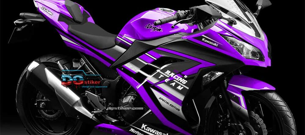 Decal sticker ninja 250 fi Violet racing team DG Stiker