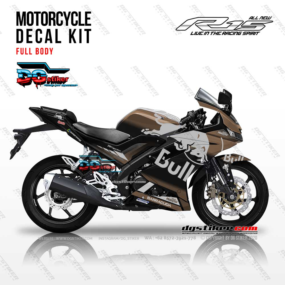 Decal Striping R15 V3 Redbull Brown DG Stiker