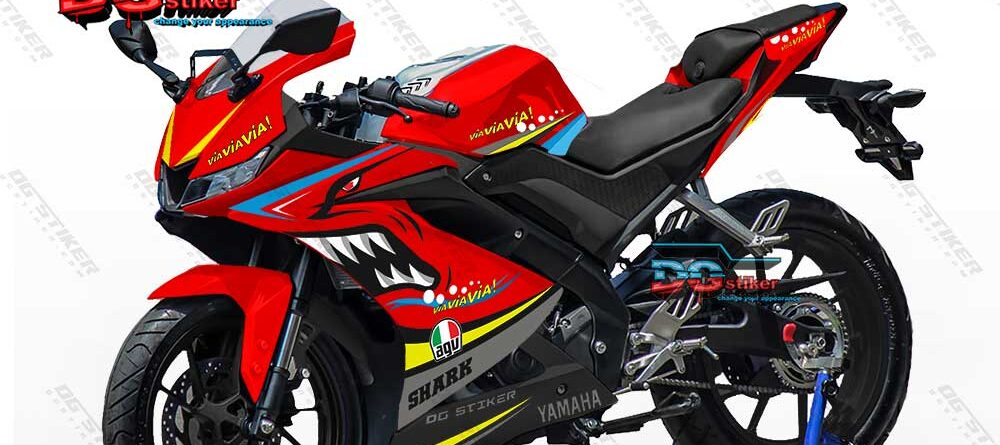 Decal R15 V3 Merah Shark DG Stiker