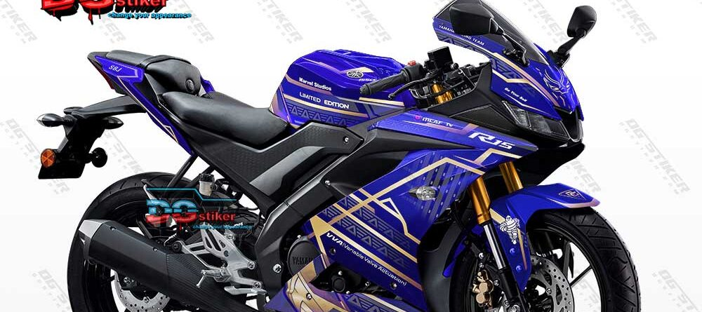Decal Sticker R15 V3 Black Panther Biru DG Stiker