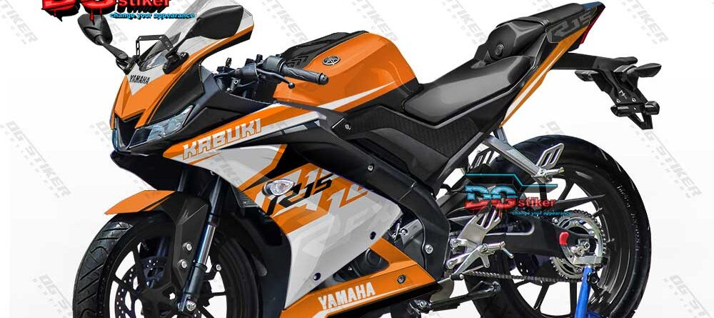 Decal Striping Full Body R15 V3 Orange KTM DG Stiker