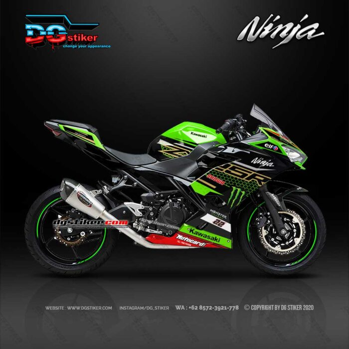 Decal Sticker Ninja 250 FI Hijau WSBK DG Stiker