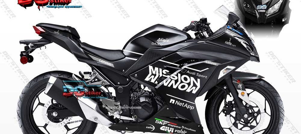Decal Sticker Ninja 250 FI Hitam Mission Winnow DG Stiker