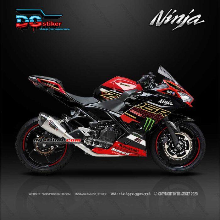 Decal Sticker Ninja 250 FI Merah WSBK DG Stiker