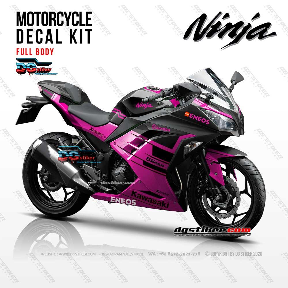 Decal Sticker Ninja 250 Fi Hitam Pink Simpel DG Stiker