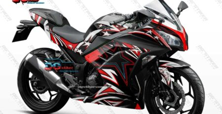 Decal Sticker Ninja 250 Fi Hitam Racing Stars DG Stiker