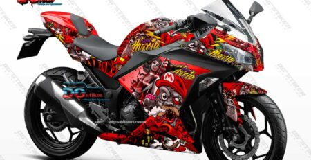 Decal Sticker Ninja 250 Fi Merah Super Mario DG Stiker