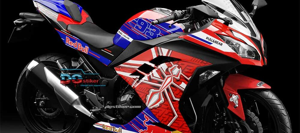 Decal Sticker Ninja 250 fi Red MM93 DG Stiker