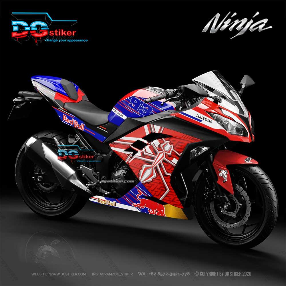 Decal Sticker Ninja 250 fi Red MM93 DG Stiker