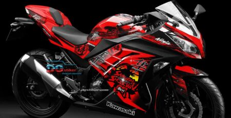 Decal Sticker Ninja 250 fi Red Samurai Splash DG Stiker