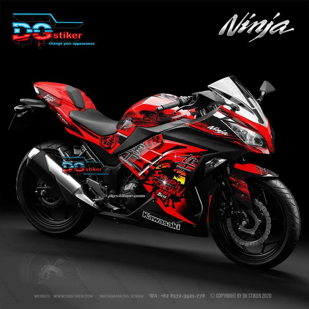 Decal Sticker Ninja 250 fi Red Samurai Splash DG Stiker