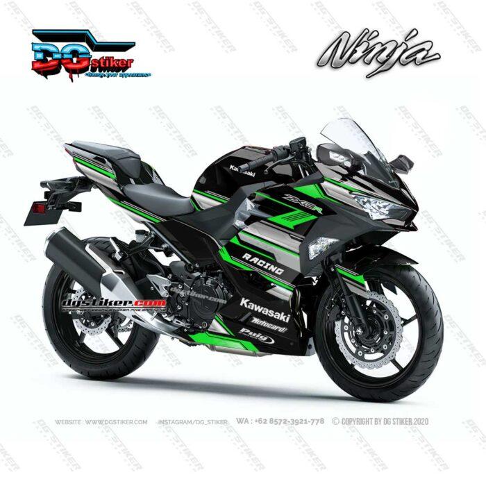 Decal Sticker Ninja 250R FI 2018 Hijau Racing Line DG Stiker