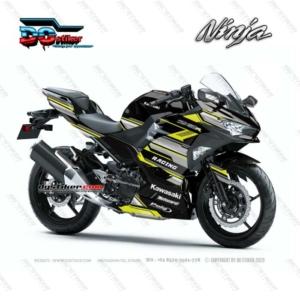 Decal Sticker Ninja 250R FI 2018 Kuning Racing Line DG Stiker