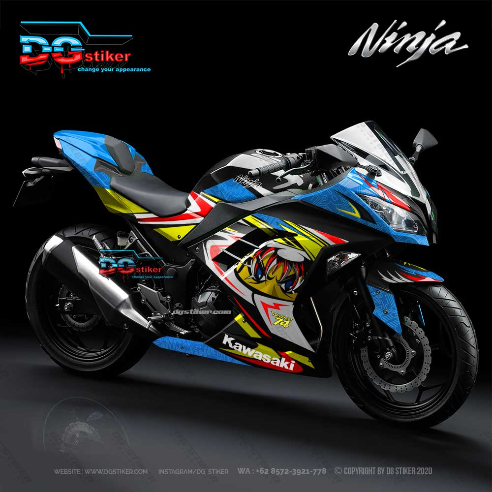 Decal Striping Full Body Ninja 250 Fi Hitam Daijiro Katto DG Stiker