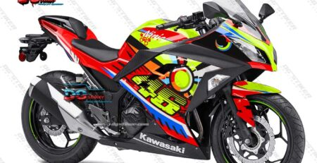 Decal Striping Ninja 250 FI Merah Sunmoon VR46 DG Stiker