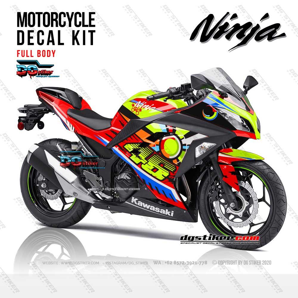 Decal Striping Ninja 250 FI Merah Sunmoon VR46 DG Stiker