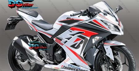 Decal Striping Ninja 250 FI Putih Bridgestone DG Stiker