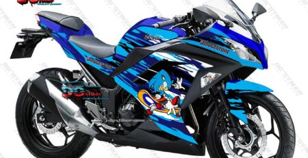 Decal Striping Ninja 250 FI Sonic DG Stiker