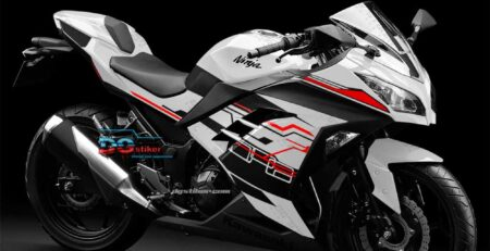 Decal sticker Ninja 250 FI Putih Hitech DG Stiker
